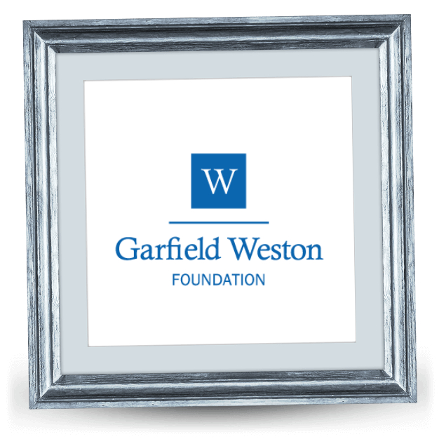 Logo of Garfield Weston Foundation – a white 'W' inside of a blue square.